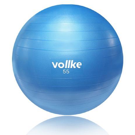 Bola de Pilates e Ginástica Antiburst Azul 55cm - Vollke - Bolas ... cea8102e3167d