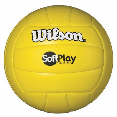 867625838e Bola de Vôlei Soft Play Microfibra PU e PVC Amarela Wilson - Bolas ...