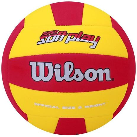 08ec5cb41b Bola de Vôlei Super Soft Play Amarelo Vermelho - Wilson - Bolas ...