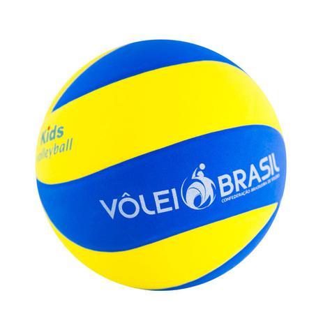 31f9e6bf9 Bola De Voleibol Infantil Mikasa SKV5 Azul E Amarelo - Bolas ...