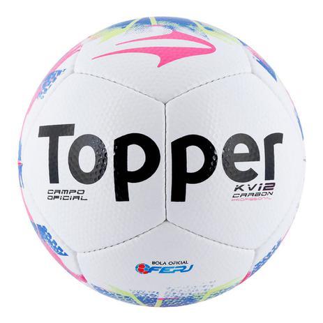 Bola Futebol De Campo Topper Kv Carbon 12 Rj 15 - Bolas - Magazine Luiza 2fbf19321eb54