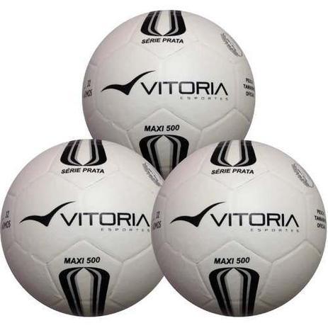 d7eb7c22dd Bola Futsal Vitória Oficial Prata Max 500 - 3 Unidades - Vitoria esportes