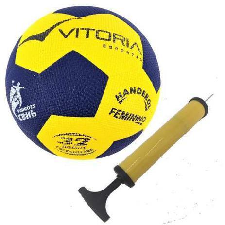 be185a4768 Bola Handebol Oficial Vitoria Grip H2l + Bomba De Ar - Vitoria esportes