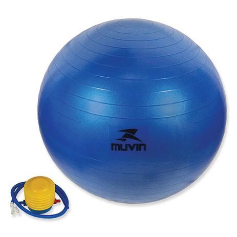 Bola para Pilates e Yoga 55 Cm Azul Muvin - Bolas - Magazine Luiza 080991e706e9