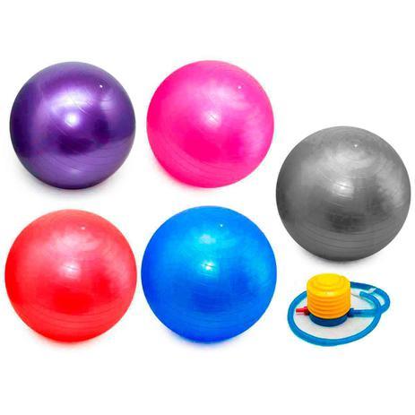 Imagem de Bola Pilates Yoga Abdominal Ginastica Fitness 55 cm C/ Bomba