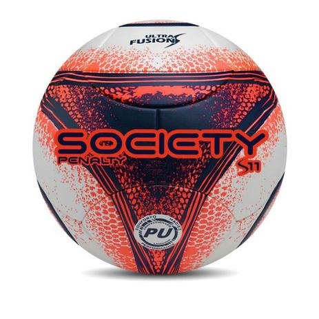 ceca10ecb1dbf Bola Society S11 R3 Penalty Laranja e Azul 521225 Cor 1080 - Bola de ...
