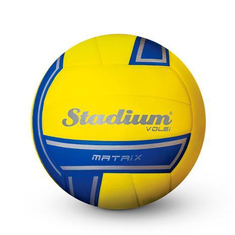 3b77870c83 Bola Stadium Volei Matrix Amarela e Azul - Penalty - Bolas ...