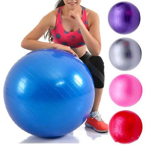Imagem de Bola Suiça 55CM C/ Bomba  - Yoga Pilates Fitness