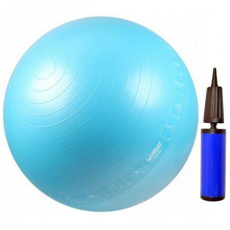 Bola Suica 65 Cm com Ilustracao para Pilates e Yoga Cor Azul + Bomba de  Dupla Acao de Mao liveup b1b085b807e02