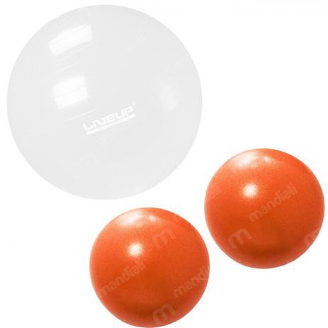 Bola Suica 65cm Transparente + 2 Overball 25 Cm Liveup - Bolas ... 5577e2acb8c7f