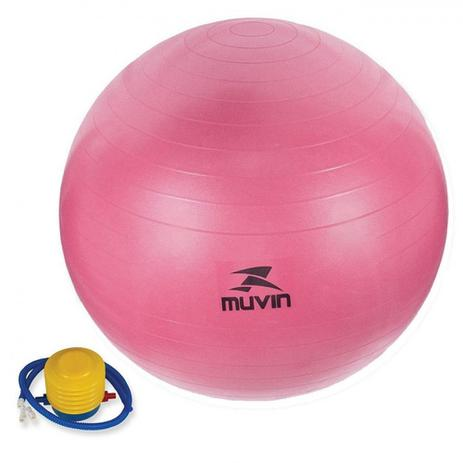 fda3a27665 Bola Suica para Pilates Rosa 75cm com Bomba de Inflar Muvin - Bola ...