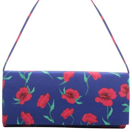 69ae6f46c Bolsa carteira clutch floral / Bolsa pequena / Transversal / Alça lateral  removível - Biro