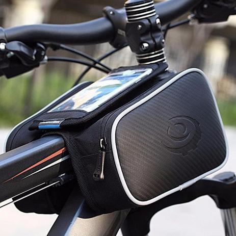 Imagem de Bolsa Case Quadro Bicicleta Bike Ciclismo Dupla Com Suporte Celular