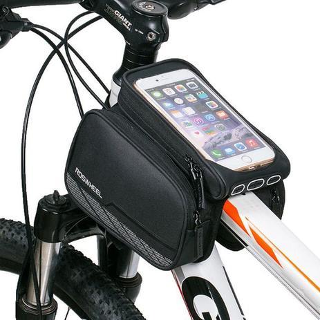 ba51bf15e9b Bolsa Case Quadro Bicicleta Bike Ciclismo Dupla Com Suporte Celular Top -  Roswheel
