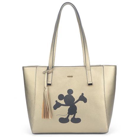 55354e95a Bolsa de Ombro Disney Mickey Mouse Ouro Luxo Original Nota ...