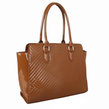 014249285 Bolsa Estruturada Verniz em Textura Caramelo Zap Accessories ...