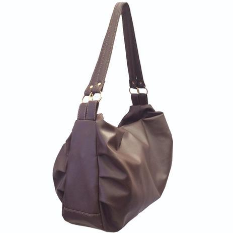 f9b1792e9 Bolsa Feminina grande de ombro café acompanha alça transversal Marrom - Meu  tio que fez