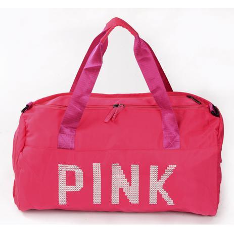 Imagem de Bolsa Feminina Mala Pink Academia Fitness Transversal Casual