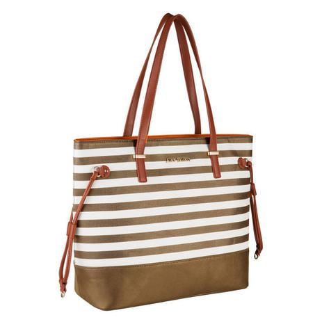 b7637e101 Bolsa Feminina Preta Tote Bag Alice Palucci Listrada Grande Alça Ombro Alta  Qualidade AL1904 - Semax