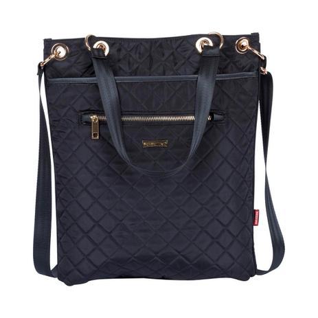 a1a9a5863 Bolsa Feminina Sacola Tote Quilt 2 Bag 2x1 Preta Matelassê Sestini ...