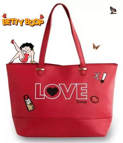 32458bedd Bolsa Feminina Tote Bag Grande Vermelho Love Betty Boop Original Semax