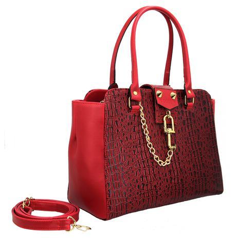 Imagem de Bolsa Feminina Vermelha Inspiration Handbag Cadeado