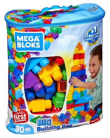 Imagem de Bolsa Grande para Construção 80 peças Fisher-Price - Mattel CYP72