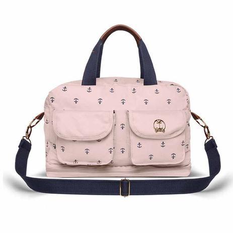 13fa56011eb78 Bolsa Maternidade Classic for Baby Bags Ibiza Navy Sarja Rosa ...