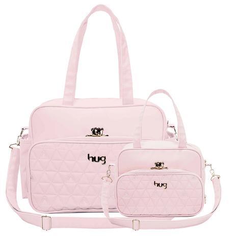 9b92f4372 Bolsa Maternidade kit 2 Peças Docinho Rosa - Hug - Hug bolsas ...