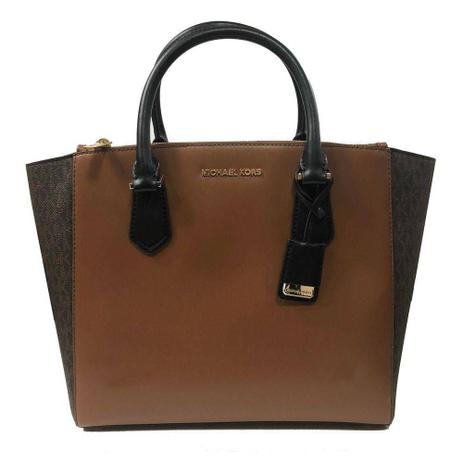 2921661fc Bolsa Michael Kors Carolyn Large Tote Leather Brown - Bolsas Médias ...