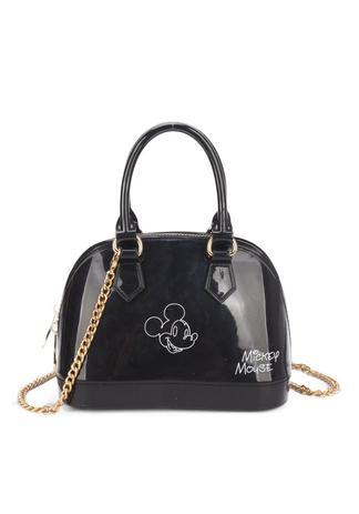 d10c022a1 Bolsa Mickey Mão Pequena Disney Original Preta Transversal ...