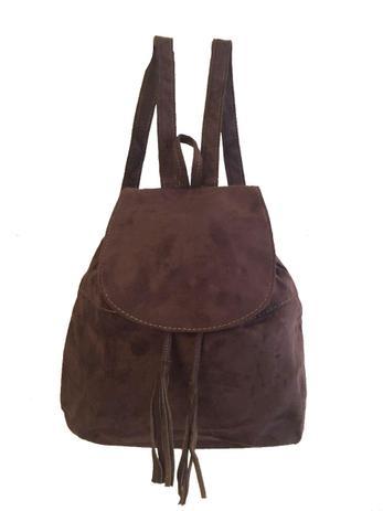 1c89f45f1fa88 Bolsa mochila feminina em camurça escolar e dia a dia café - Meu tio que fez