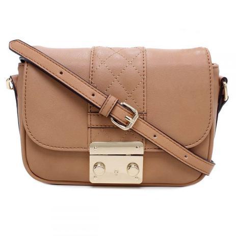 f88a6f0b9 Bolsa pequena transversal recortes marrom - Click bolsas e bijuterias