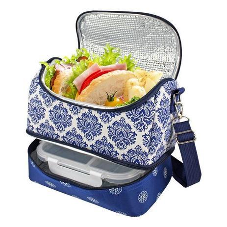 45be9c906 Bolsa Térmica com 2 compartimentos Bella Vitta Azul Jacki Design ...