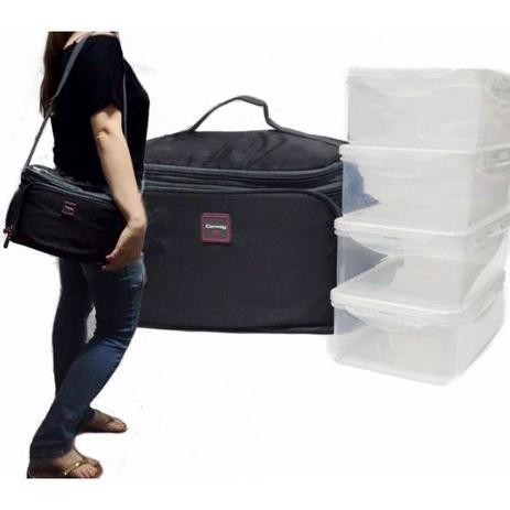 f6ff39233 Bolsa termica lancheira fitness marmiteira mala grande com 4 potes e  acessorios - Gimp