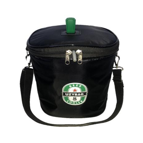 Imagem de Bolsa Térmica Para Barril De Chopp 5 Litros Heineken Com Espaço para Gelo Preta