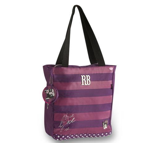 dad6248968ee5 Bolsa Tote Bag Rosa   Roxa RB4185 Rebecca Bonbon - Bolsas e Sacolas ...