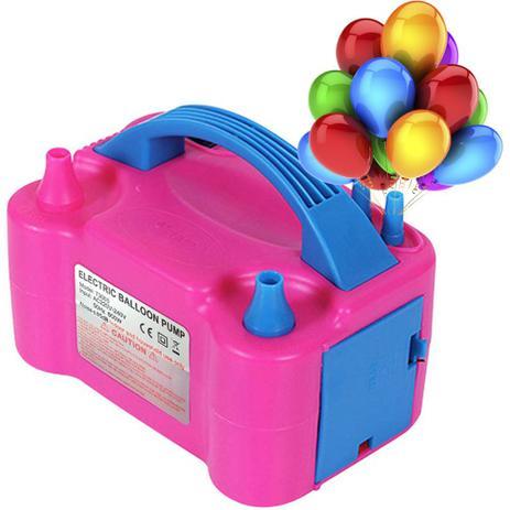 Imagem de Bomba Elétrica Inflador Compressor Balão Bexiga 2 Bicos 110v