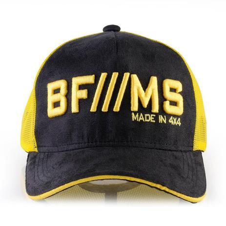 Boné BFMS Original Tradicional Preto Camurça com Amarelo Tela Ajustável -  Bf     ms 461fb5f1632