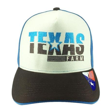 Boné Country de Aba Reta Texas Farm Azul - Boné e Chapéu de Pesca ... c724e9b39ff