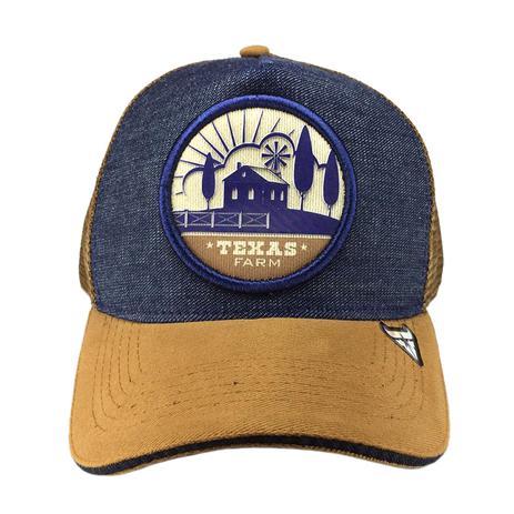 Boné Country Trucker de Telinha Texas Farm Fazenda Jeans - Boné e ... 98a6a5a8f1a