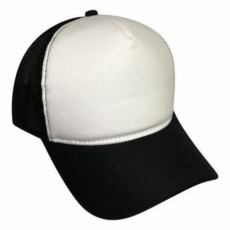 3620bb999c8d6 Boné Liso Preto Com Frente Branca Tela Aba Curva - Top - Boné e ...