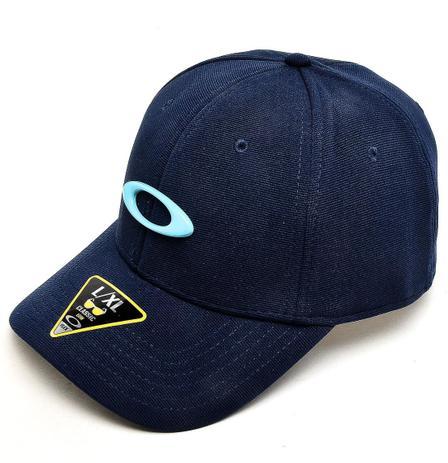 Imagem de Boné Oakley Aba Curva Tincan Masculino - Azul Branco