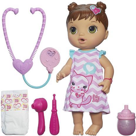 654b44aef1 Boneca Baby Alive Cuida de Mim Morena B5159 - Hasbro - Boneca Baby ...
