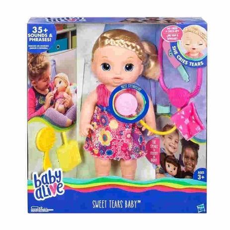 02d92a3358 Boneca Baby Alive Doces Lagrimas Loira Hasbro - Boneca Baby Alive ...