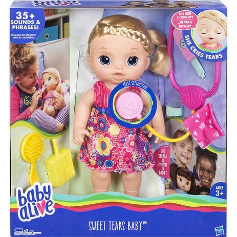 af9ab95827 Boneca Baby Alive Doces Lágrimas Loira - Hasbro - Boneca Baby Alive ...