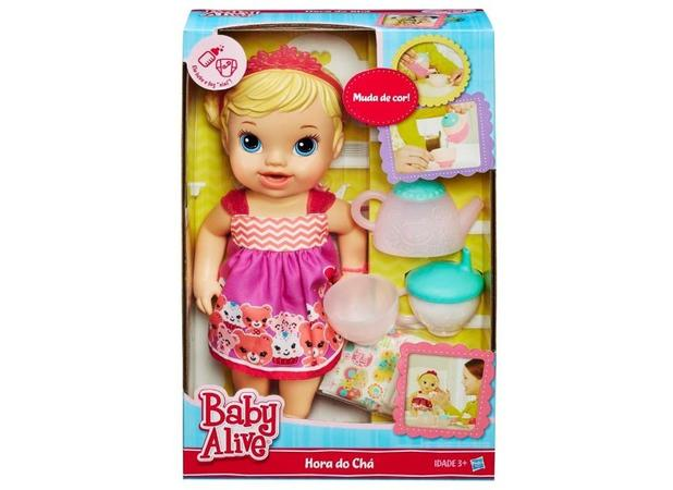 ce3ee6f393 Boneca Baby Alive Hora do Chá Loira - Hasbro - Boneca Baby Alive ...