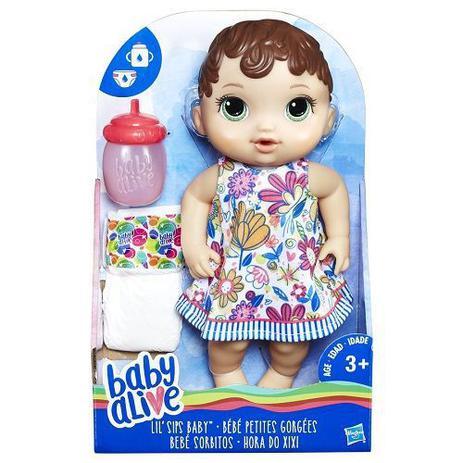d85846756f Boneca BABY Alive Hora do Xixi Morena Hasbro E0499 13104 - Boneca ...