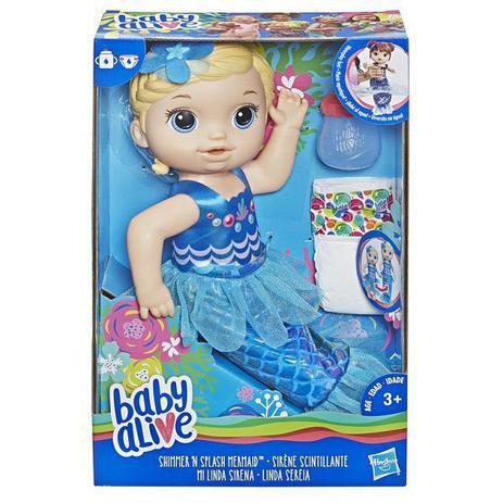 3e740c504f Boneca BABY Alive Linda Sereia Loira Hasbro E3693 13894 - Boneca ...