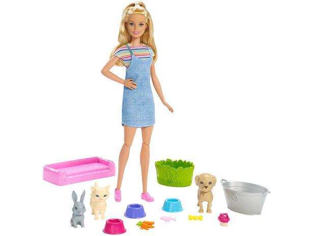 Imagem de Boneca Barbie Banho de Cachorrinhos com Acessórios